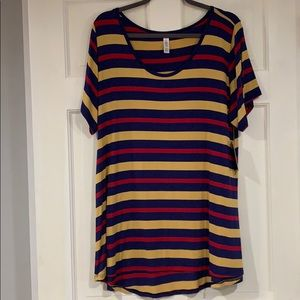 LuLaRoe striped Classic T shirt 2XL NWT